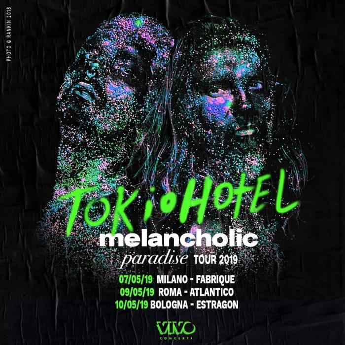 """I Tokio Hotel hanno annunciato il ritorno in Italia per tre concerti a Milano, Roma e Bologna con il nuovo album """"Melancholic Paradise"""""""
