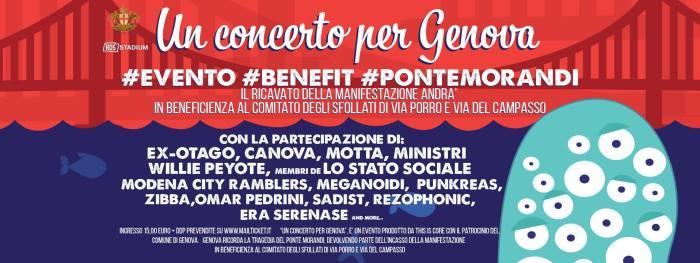 Locandina artisti Un Concerto Per Genova