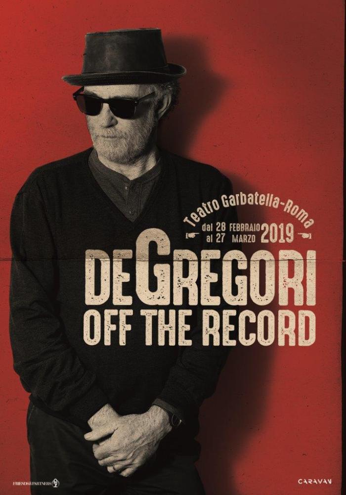 De Gregori in concerto dal 28 febbraio al 27 marzo a Garbatella