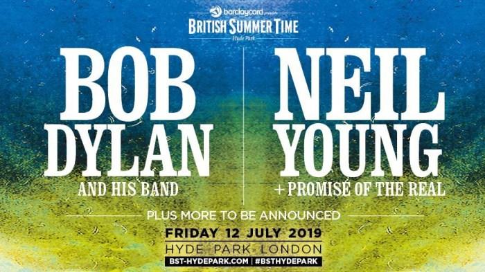Bob Dylan e Neil Young saranno headliner al British Summer Time di Londra il 12 luglio 2019