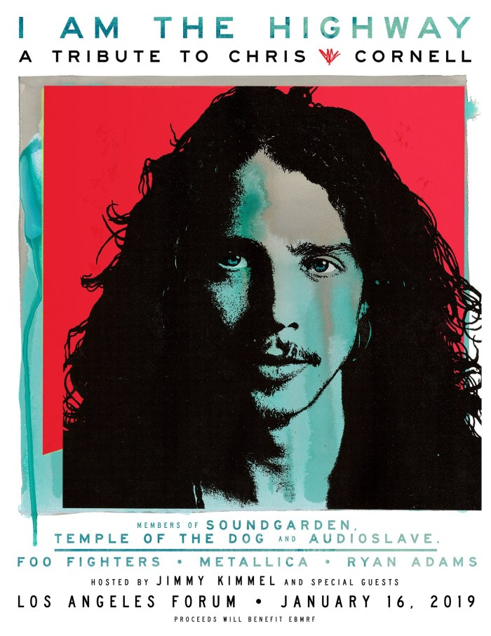 Il 16 gennaio 2019 ci sarà a Los Angeles il concerto tributo a Chris Cornell con Metallica, Ryan Adams e Foo Fighters