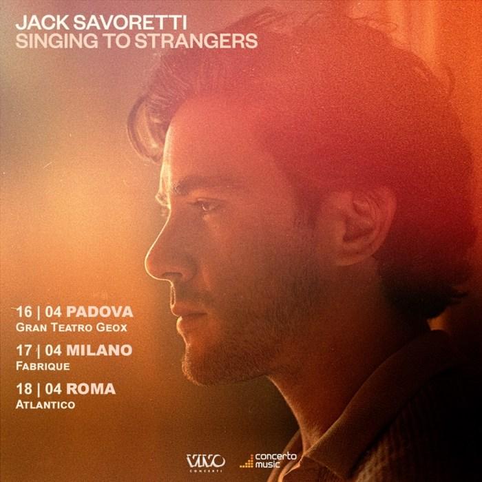 """Jack Savoretti presenterà il nuovo album """"Singing To Strangers"""" con tre date nei club di Padova, Milano e Roma"""