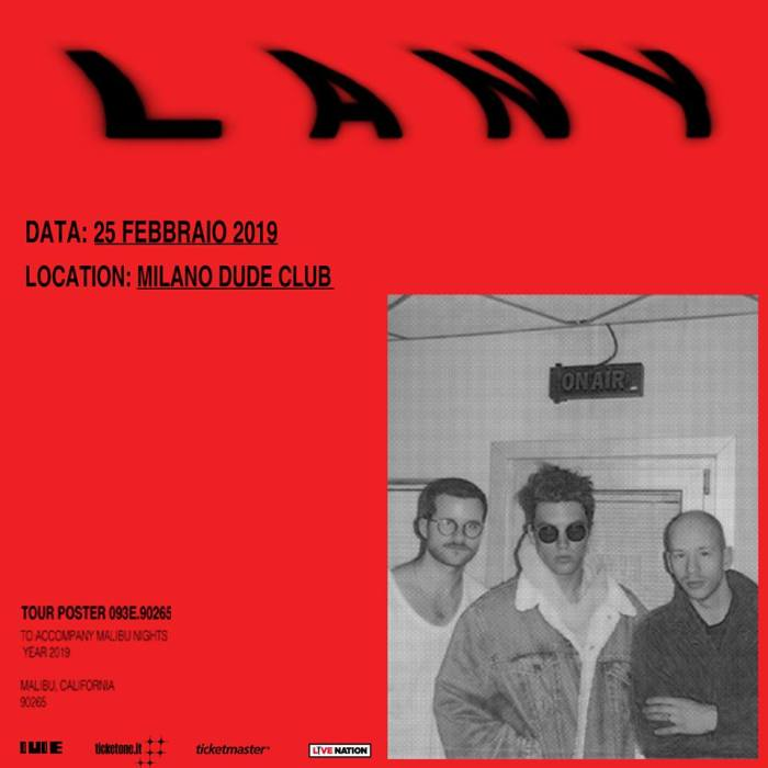 """I Lany arrivano in Italia il 25 febbraio 2019 per l'unica data italiana di presentazione del secondo album """"Malibu Nights"""""""