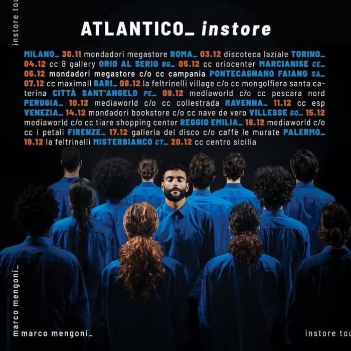 """Marco Mengoni, ecco le date dell'Instore Tour del nuovo album """"Atlantico"""""""