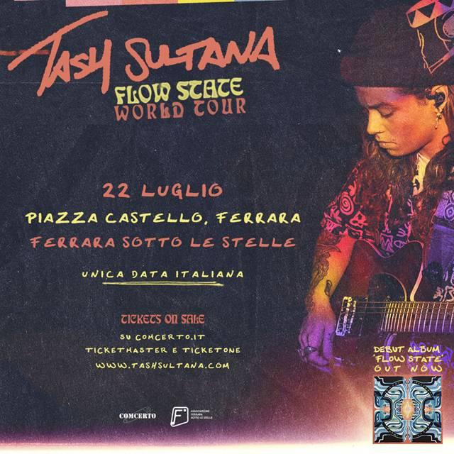 Tash Sultana in concerto a Ferrara Sotto Le Stelle il 22 luglio 2019