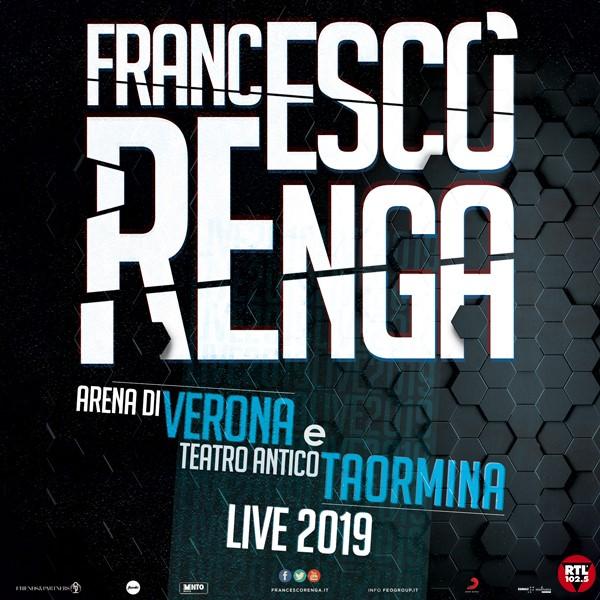 Locandina Verona e Taormina Live 2019 Francesco Renga