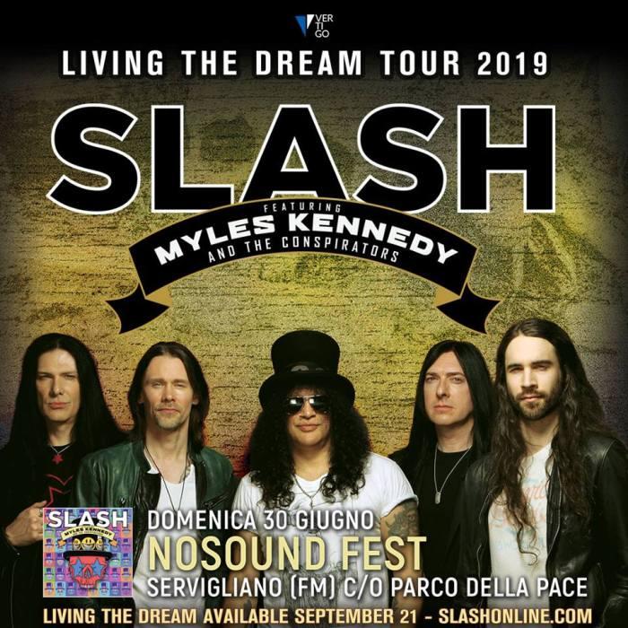 Slash si esibirà domenica 30 giugno al NoSound Fest di Servigliano