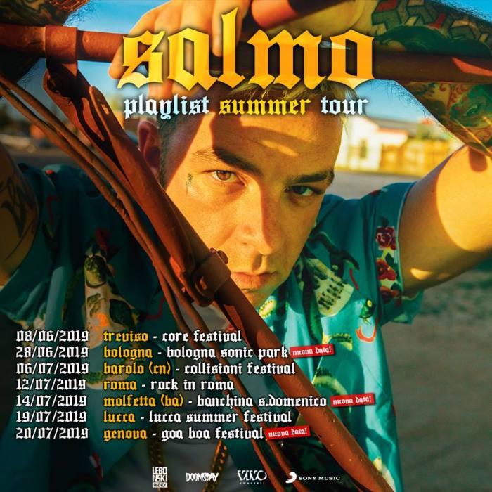 """Bologna, Bari e Genova si aggiungono al """"Playlist Summer Tour"""" di Salmo"""