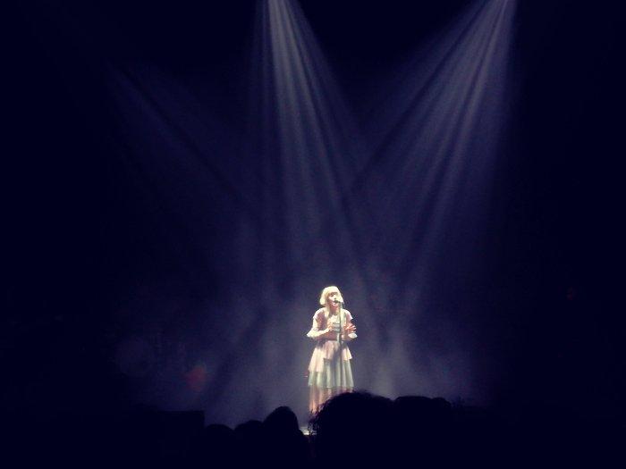 Aurora dal vivo all'Auditorium Parco della Musica di Roma