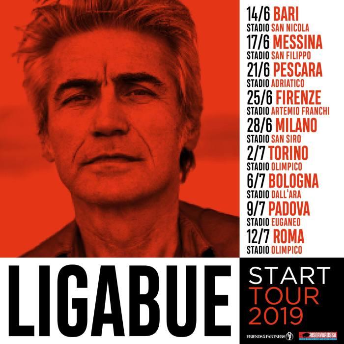 """Ligabue in concerto negli stadi italiani con lo """"Start Tour 2019"""""""