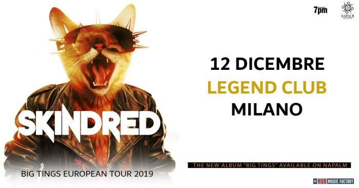 Skindred nuova data il 12 dicembre al Legend Club di Milano
