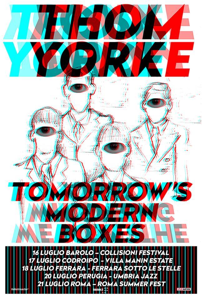 Cinque concerti a luglio 2019 per Thom Yorke