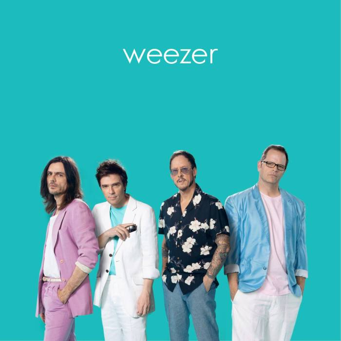 "I Weezer pubblicano ""The Teal Album"" con cover di Toto, A-Ha, The Turtles, Tears For Fears e altri"