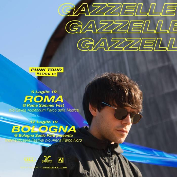 Gazzelle in concerto a Roma e Bologna a luglio 2019