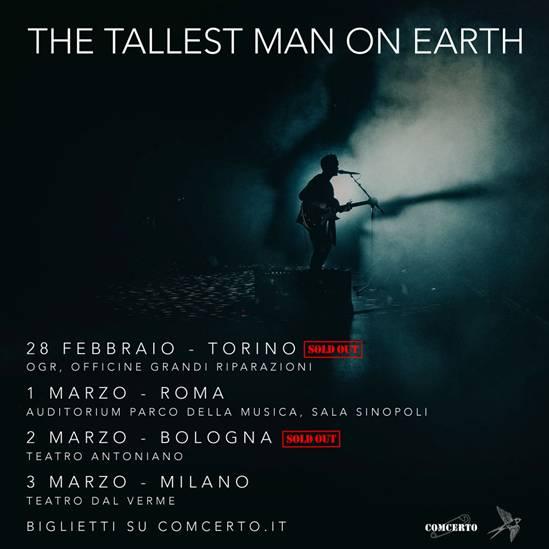 The Tallest man On Earth, sold out i concerti di Bologna e Torino