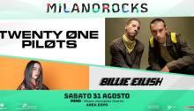 I Twenty one Pilots e Billie Eilish si esibiranno al Milano Rocks il 31 agosto
