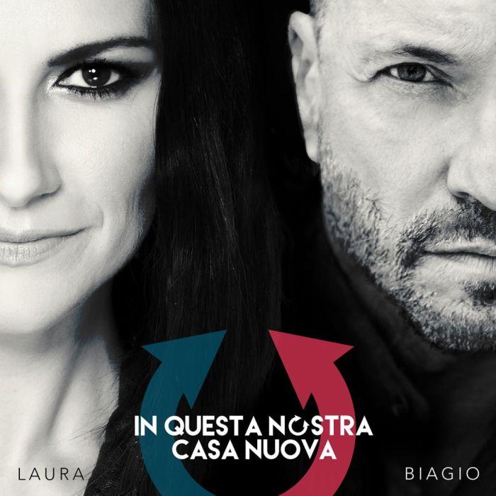 """""""In Questa Nostra Casa Nuova"""" singolo copertina Biagio Antonacci e Laura Pausini"""