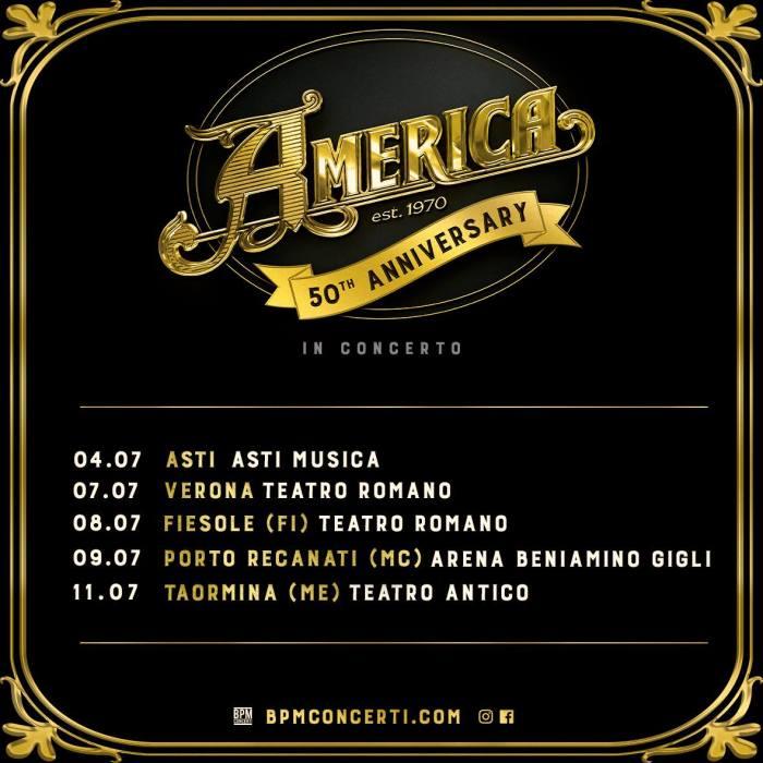 America in concerto a Asti, Verona, Firenze, Porto Recanati e Taormina