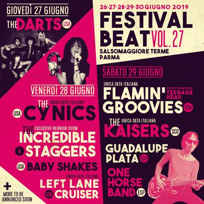 Festival Beat edizione 27 lineup locandina 2019