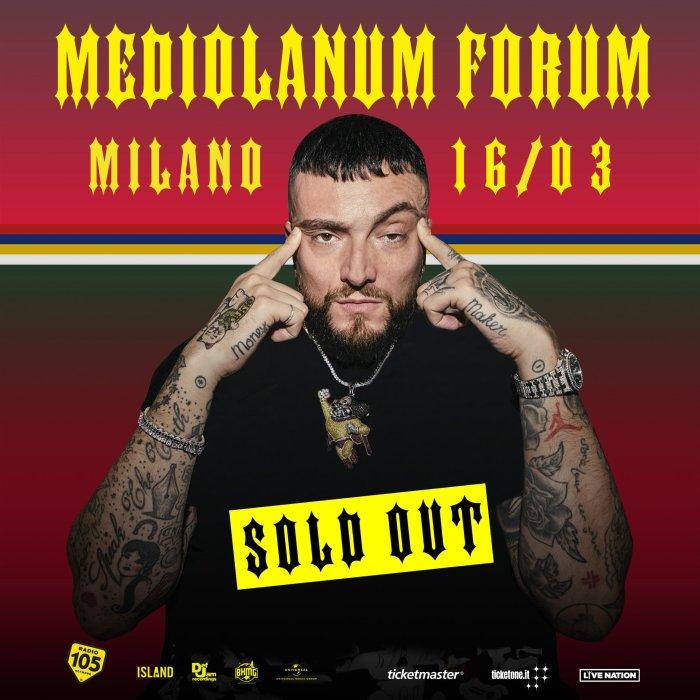 Il concerto di sabato 16 marzo al Mediolanum Forum di milano di Gué Pequeno è ufficialmente sold out