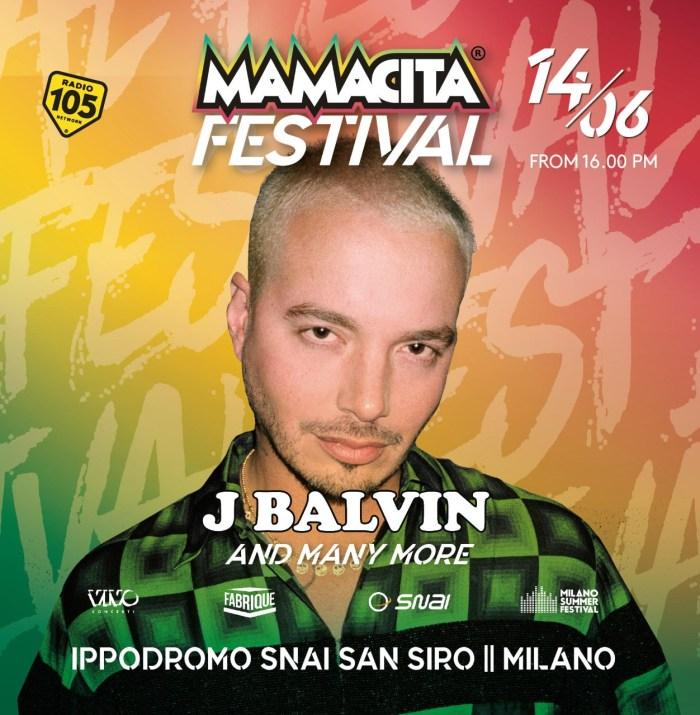 Mamacita Festival a Milano il 14 giugno con J Balvin e altri