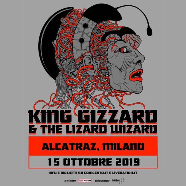 King Gizzard & The Lizard Wizard concerto 15 ottobre Alcatraz Milano