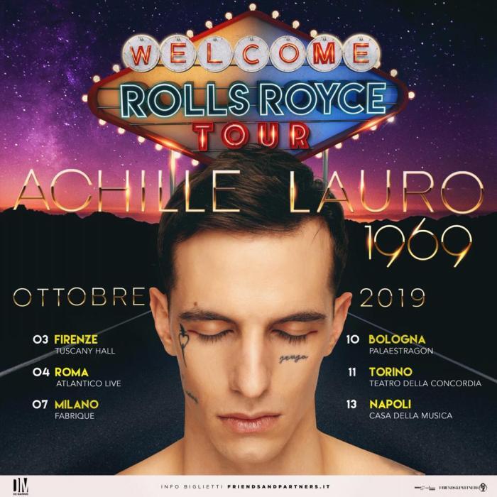 Nuove date ottobre 2019 Achille Lauro