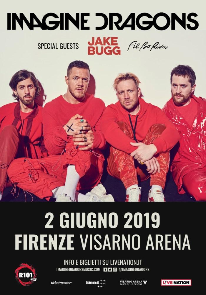 Imagine Dragons special guest Jake Bugg e Fil Bo Riva il 2 giugno a Firenze