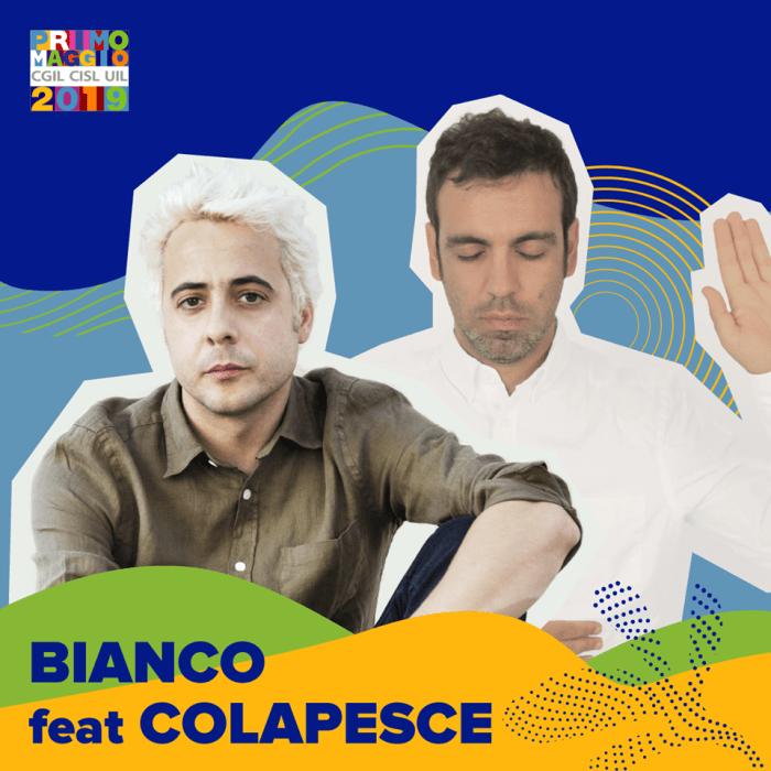 Bianco e Colapesce sul palco del Concertone del Primo Maggio 2019 a Roma