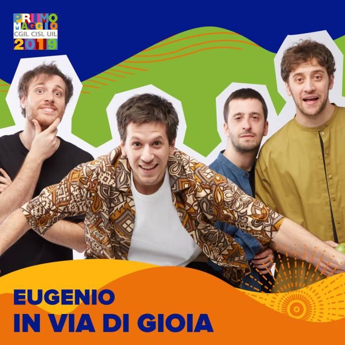 Eugenio In Via Di Gioia sul palco del Concertone del Primo Maggio