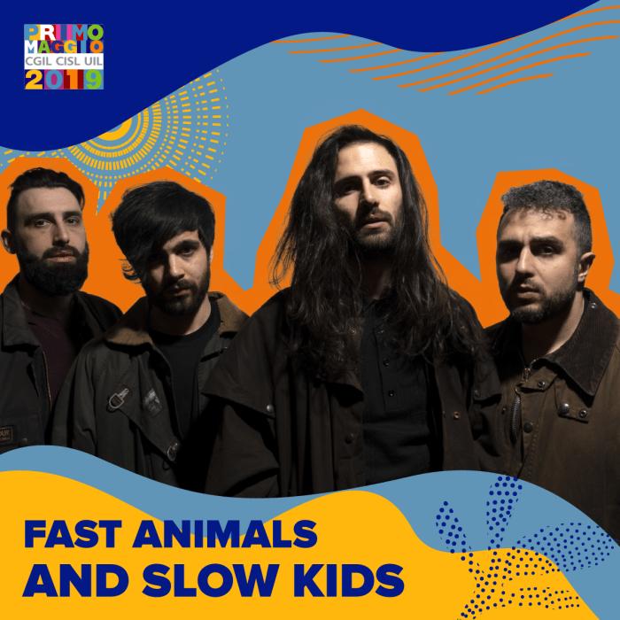 Fast Animals & Slow Kids sul palco del Concertone del primo Maggio a Roma