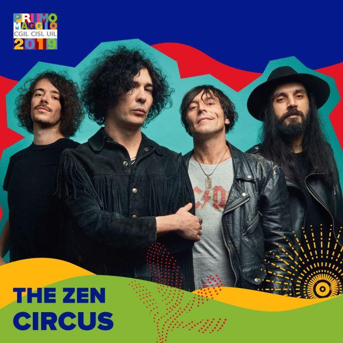 The Zen Circus sul palco del Concertone del Primo Maggio a Roma
