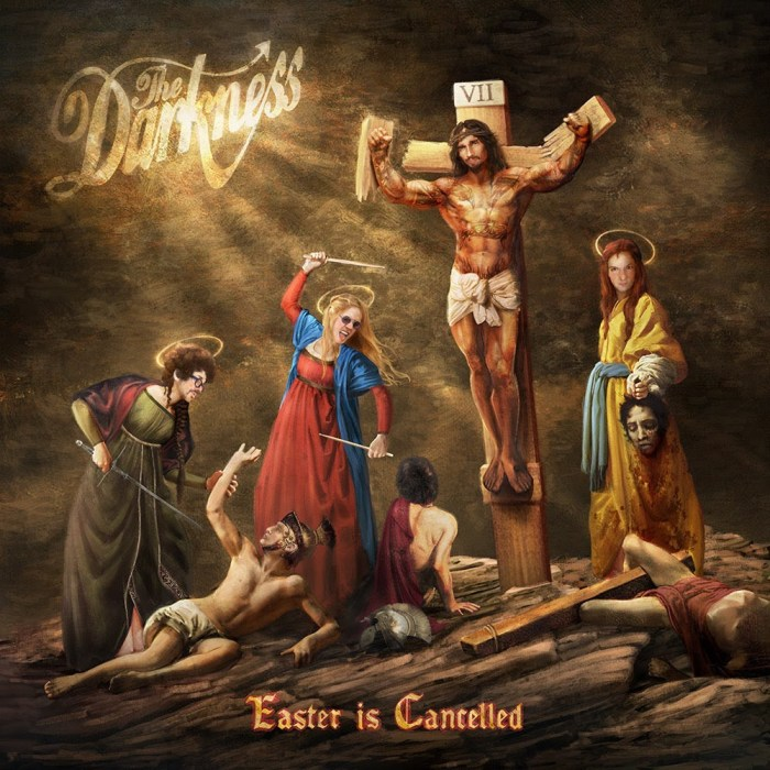 "The Darkness copertina cover album ""Easter Is Cancelled"""