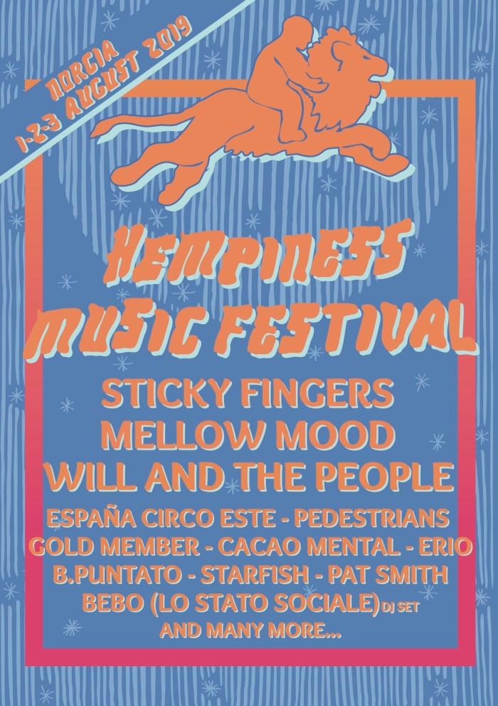 Hempiness Music Festival 2019 locandina artisti