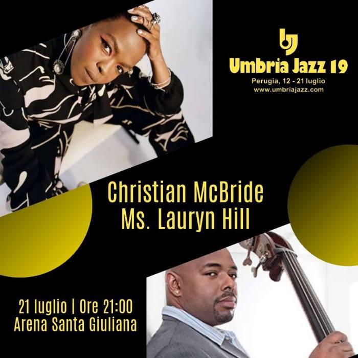 Lauryn Hill il 20 luglio a Umbria Jazz 2019