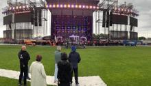 Il palco del Vascononstoptour live 019 di Vasco Rossi per Lignano Sabbiadoro, Milano e Cagliari