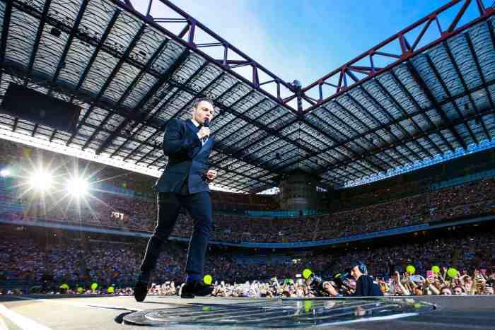 Già 75mila biglietti venduti nelle prime 24 ore per il tour 2020 di Tiziano Ferro