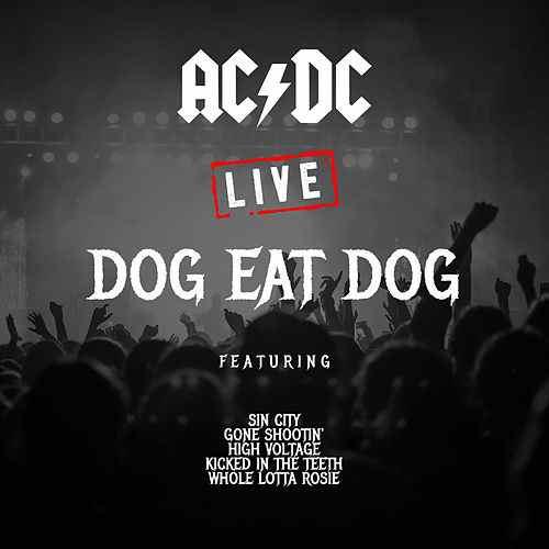 "AC/DC copertina album ""Dog Eat Dog"" live bootleg"