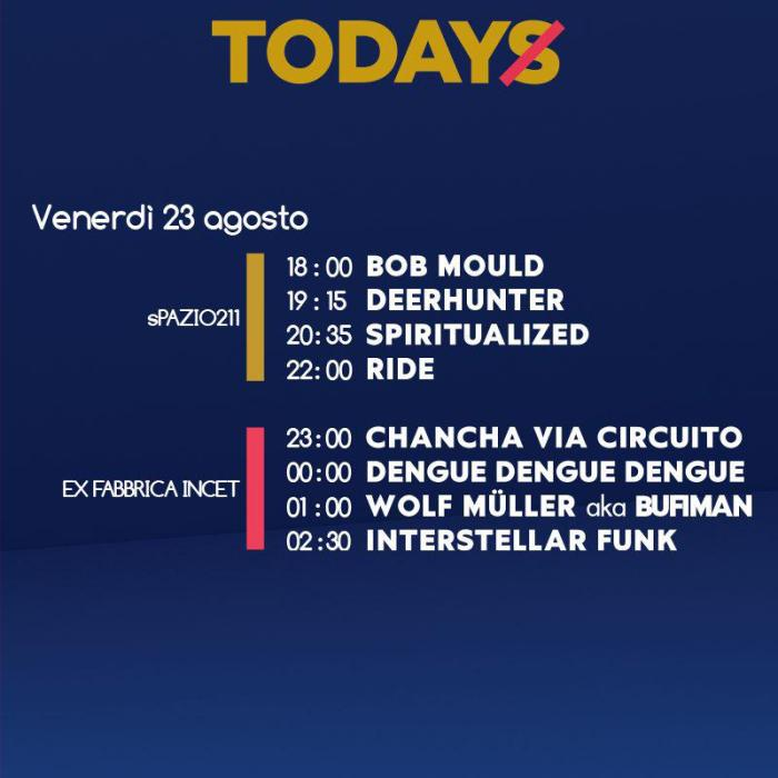 Programma TOdays Festival venerdì 23 agosto Torino