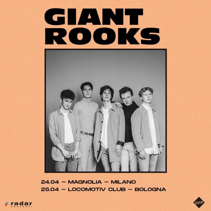 Giant Rooks in concerto il 24 aprile a Milano e il 25 aprile a Bologna
