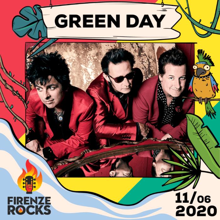 Green Day headliner del Firenze Rocks: appuntamento giovedì 11 giugno 2020