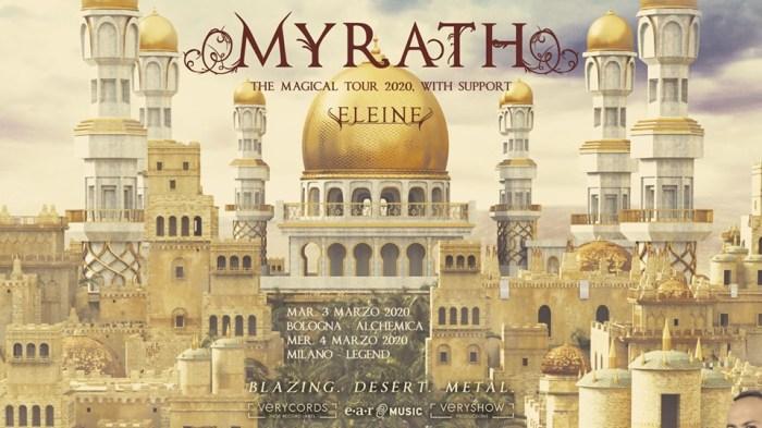 Myrath e Eleine in concerto a marzo 2020 a Bologna e Milano