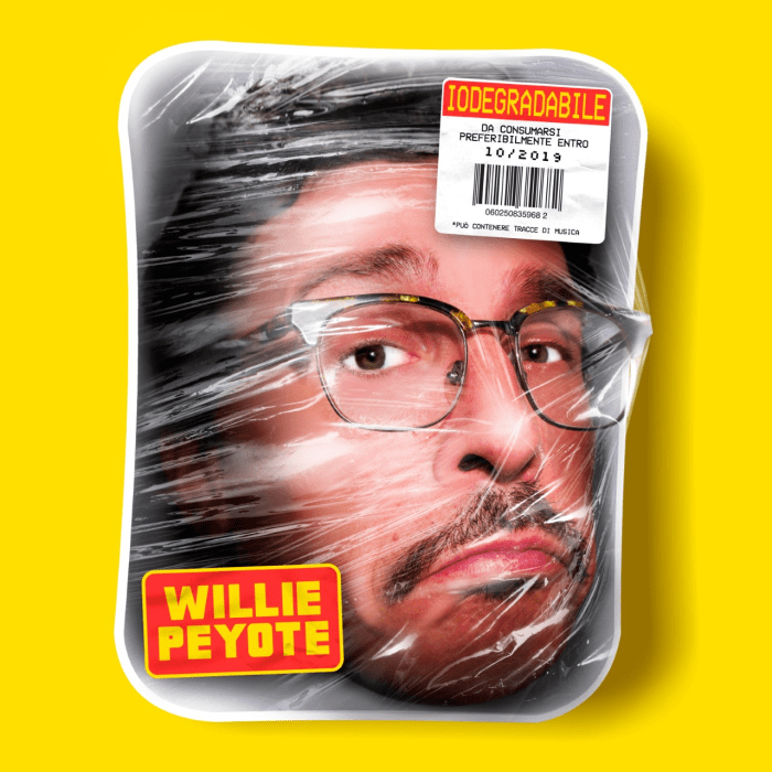 "copertina album ""Iodegradabile"" di Willie Peyote"