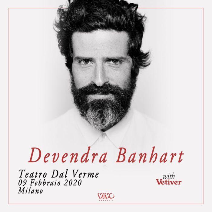 Vetiver in apertura il 9 febbraio a Milano a Devendra Banhart