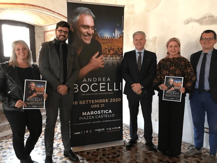 Andrea Bocelli, ritorno a Marostica il 16 settembre