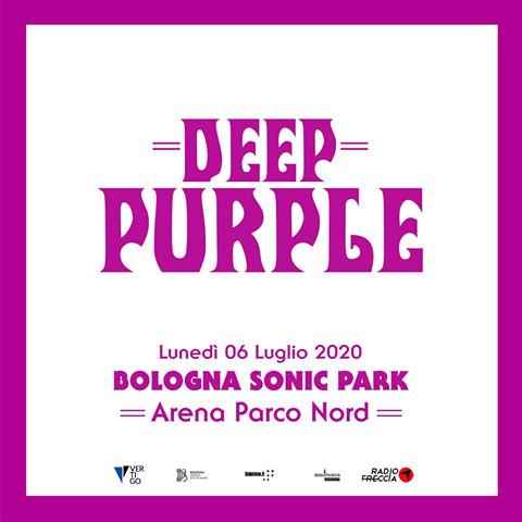 Deep Purple lunedì 6 luglio al Bologna Sonic Park