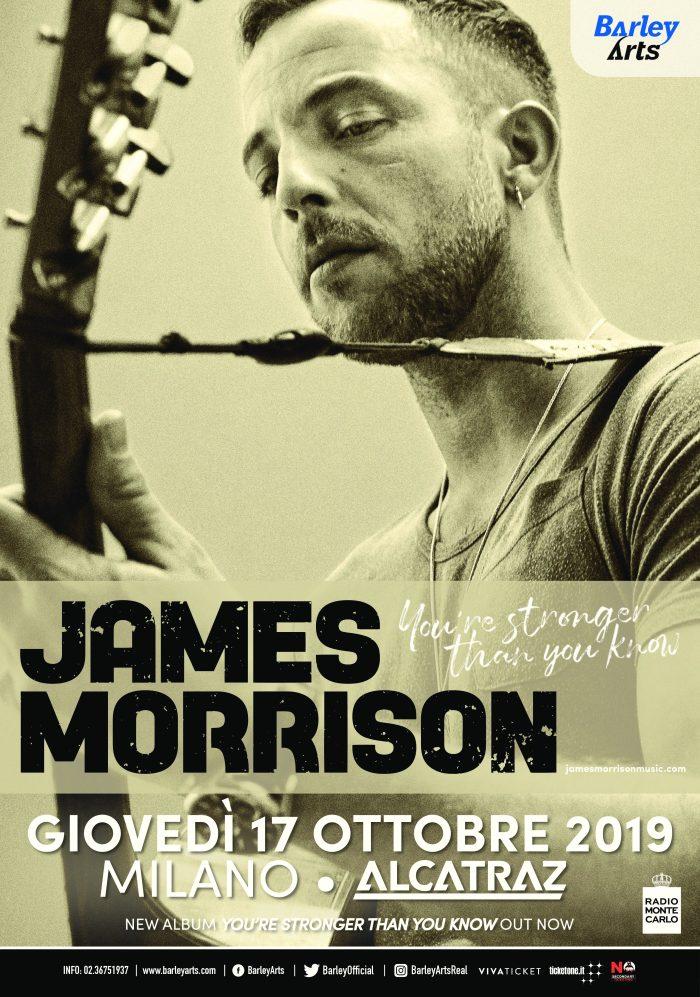 Vinci 2 biglietti per il concerto di James Morrison, giovedì 17 ottobre all'Alcatraz di Milano