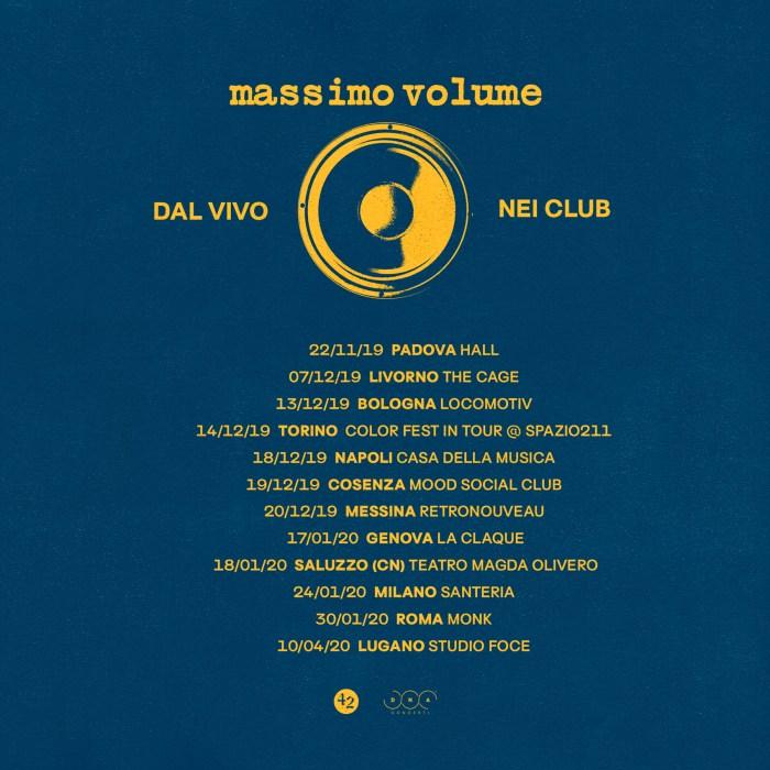 Massimo Volume date nei club