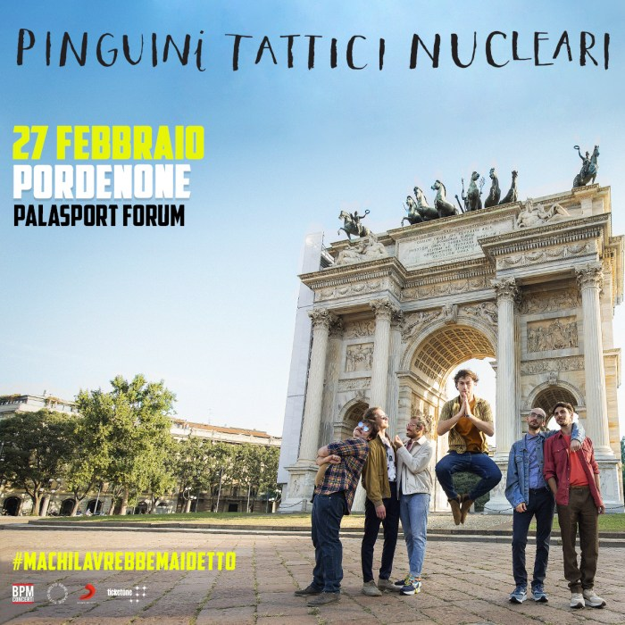 Pinguini Tattici Nucleari nuova data a Pordenone il 27 febbraio