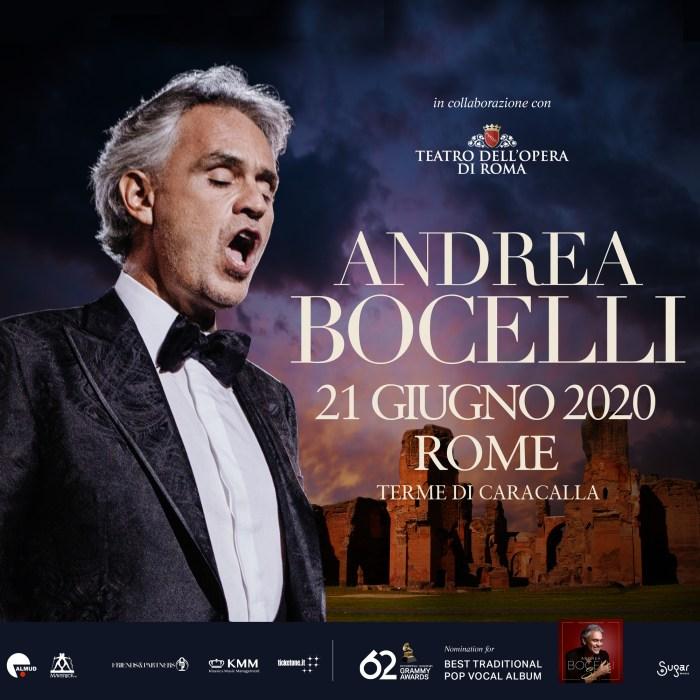 Andrea Bocelli il 21 giugno alle Terme di Caracalla